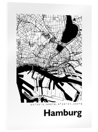 Acrylic print  City map of Hamburg - 44spaces
