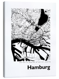 Canvas  City map of Hamburg - 44spaces