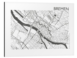 Aluminium print  City map of Bremen - 44spaces