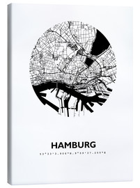 Canvas print  City map of Hamburg - 44spaces