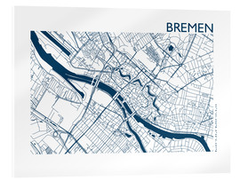 Acrylic print  City map of Bremen - 44spaces