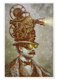 Premium poster The projectionist
