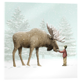 Acrylic print  Winter Moose - Eric Fan