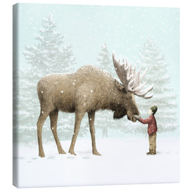 Canvas print  Winter Moose - Eric Fan
