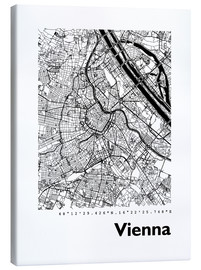 Canvas print  City map of Vienna - 44spaces