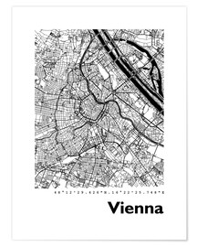 Premium poster  City map of Vienna - 44spaces