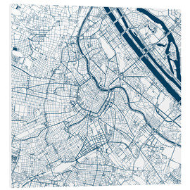 Foam board print  City map of Vienna - 44spaces