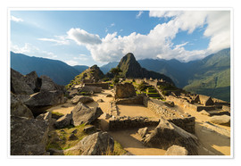 Premium poster  Light and clouds over Machu Picchu, Peru - Fabio Lamanna