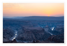 Premium poster  Fish River Canyon at sunset, travel destination in Namibia - Fabio Lamanna