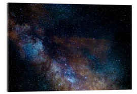 Acrylic print  The Milky Way galaxy, details of the colorful core - Fabio Lamanna