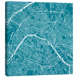 Canvas  Map of Paris - 44spaces