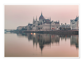 Premium poster  Colourful sunrises in Budapest - Mike Clegg Photography