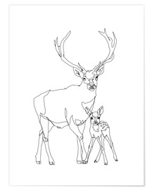 Premium poster Bambi & Stag