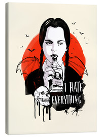 Canvas print  Wednesday Addams - 2ToastDesign