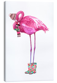 Canvas  Pink flamingo with rubber boots - Kidz Collection