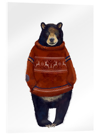 Acrylic print  Mr. Bearr in Norwegian sweater - Kidz Collection