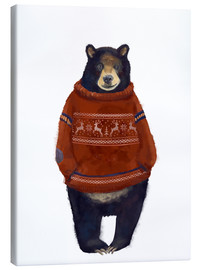 Canvas print  Mr. Bearr in Norwegian sweater - Kidz Collection