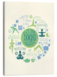 Canvas  Yoga - my world I