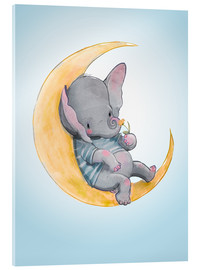 Acrylic print  Elephant in the moon - Kidz Collection