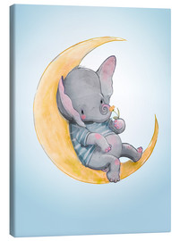 Canvas  Elephant in the moon - Kidz Collection