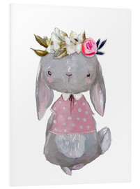 Foam board print  Summer bunny with flowers in her hair - Kidz Collection