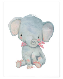 Premium poster  My little elephant - Kidz Collection