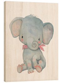 Wood print  My little elephant - Kidz Collection