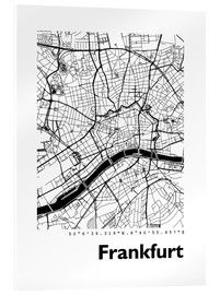 Acrylic print  City map of Frankfurt - 44spaces