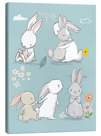 Canvas  Bunny friendship - Kidz Collection