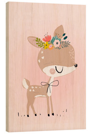 Wood print  Deer Rosalie - Kidz Collection