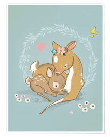 Premium poster  Fawn mother and child - Kidz Collection