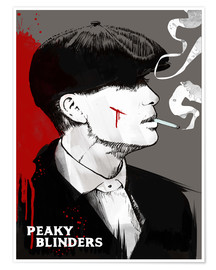 Poster  Peaky blinders tommy shelby art print - 2ToastDesign