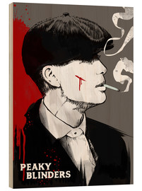 Wood print  Peaky Blinders - Tommy Shelby (Art Print) - 2ToastDesign
