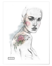 Premium poster Flower tattoo