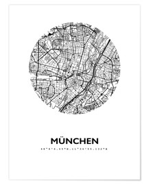 Premium poster  City map of Munich - 44spaces