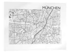 Acrylic glass  City map of Munich - 44spaces