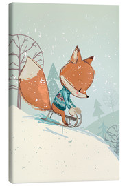 Canvas print  Fox with sledge - Kidz Collection