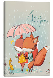 Canvas print  Fox love - Kidz Collection