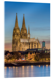 Acrylic print  The Cologne Cathedral in the evening - Michael Valjak