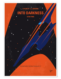 Premium poster No931 My ST Into Darkness minimal movie poster