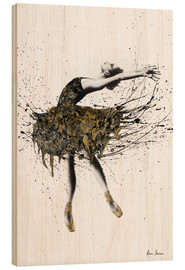 Wood print  The black swan - Ashvin Harrison