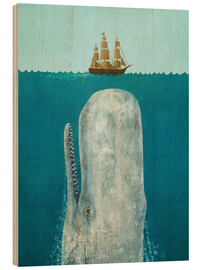 Wood print  The whale - Terry Fan