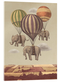 Acrylic print  Flight of the elephants - Terry Fan