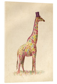 Acrylic print  Fashionable giraffe - Terry Fan