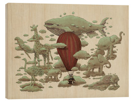 Wood print  Great cloud pictures - Terry Fan