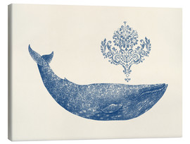 Canvas print  A whale from Damask - Terry Fan