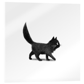 Acrylic print  Little black cat - Terry Fan