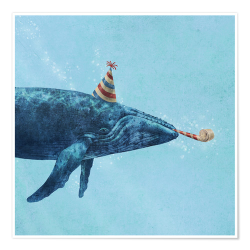 Premium poster party whale