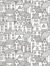 Colouring poster  My little town