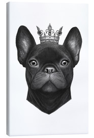Canvas print  Queen French Bulldog - Valeriya Korenkova